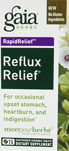 Gaia Herbs, Reflux Relief Chewy Tablets, 15 ()