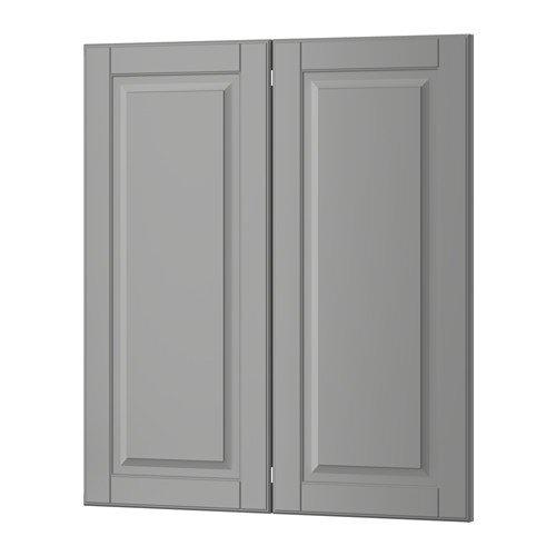 Ikea 2-p door/corner base cabinet set, gray 13x30 - Cabinet Corner Ikea