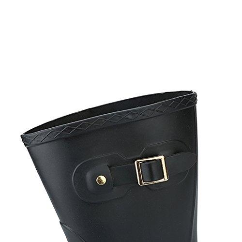 adulti Scarpe EU antiscivolo Xiuzhifuxie 39 3 antiscivolo in Calzature Mid per gomma impermeabili a elastica Tube 1 Dimensione piatta molla HSn4H