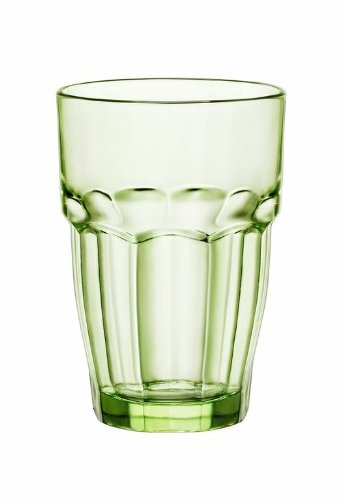Bormioli Rocco 12.5 oz. Rock Bar Lounge Stackable Long Drink Glass, Mint, Set of 6