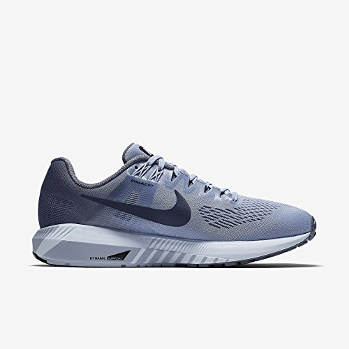 Image of NIKE Women's Air Zoom Structure 21 Running Shoe Wide (D) Armory Blue/Armory Navy-Cirrus Blue 9.5