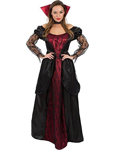 Sexy Deluxe Vampiress Costumes (Ladies Halloween Vampiress Vampire Gothic Halloween Costume Medium)