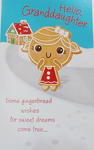 Hello Granddaughter - Some gingerbread wishes for sweet dreams come true ... Merry Christmas Greeting (Sweet Greetings Gingerbread)