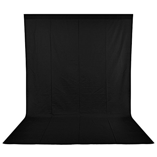 Neewer 9 x 13FT/2.8 x 4M Photo Studio 100% Pure Muslin Collapsible Backdrop Background for Photography, Video and Television(Background Only), Black