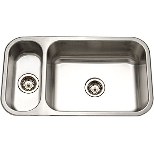 - Houzer EHD-3118-1 Elite Series Undermount Stainless Steel 70/30 Double Bowl Kitchen Sink