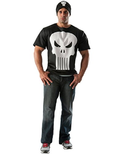 [Rubie's Costume Co Men's Marvel Universe Punisher T-Shirt, Multi, X-Large] (The Punisher Costume For Adults)