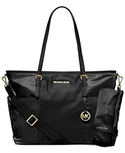 Lined Pocket Tote Fully Two (Michael Kors Jet Set Large Nylon Pocket Baby Diaper Bag (Black))