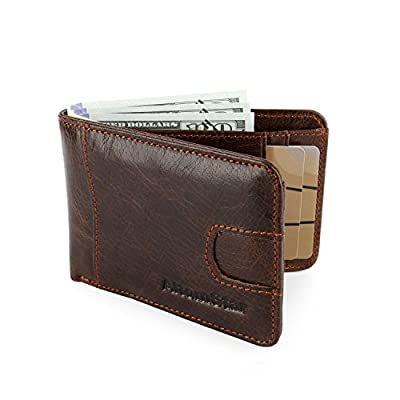 High-End Wallet for Men Genuine Cowhide Leather with RFID Blocking