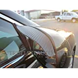 TrueLine Black Carbon Fiber Mirror Visor Rain Guards