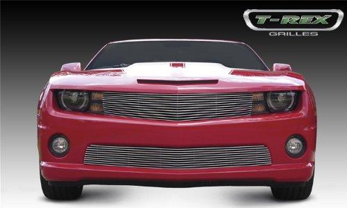 2012 Aluminum Grille (TRex Grilles 21027B Horizontal Aluminum Black Finish Billet Grille Overlay for Chevrolet Camaro)