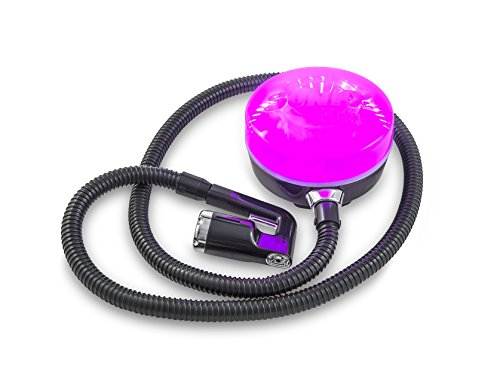 SunFX Pro Mini Spray Tan System with Hose - Applicator and Solution plus accessories - Black with PINK LED Lights (Spray Tan Machine Accessories)