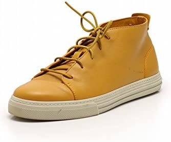 Gucci Sneakers Mid Cut Leather Mustard