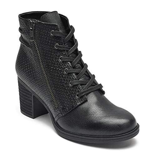 ollection Women's Cobb Hill Natashya Lace Boot Black Leather 8.5 M US M (B) ()