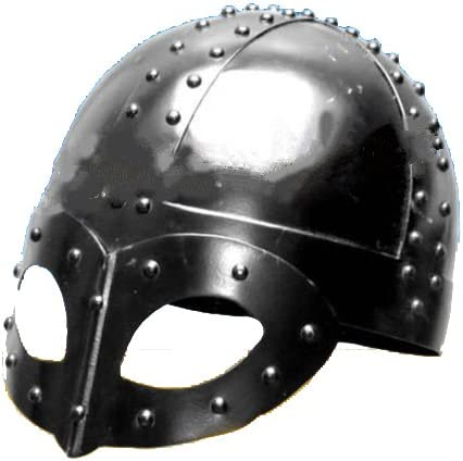 Reina latón Medieval Viking casco w/gafas/Coleccionable película teatral disfraz Armor estándar plata