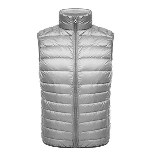 Men's Quilted Down Warm Stand BOLAWOO Vest Brands Warm Autumn Light Fashion Vest Vest Down Jacket Padded Grau Collar Ultra Sleeveless Slim and Winter AvqYwYd4