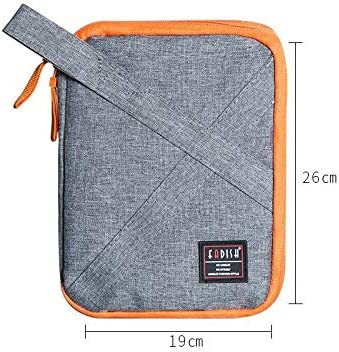 Color : Black S LiYao Travel Digital Bag,Oxford Cable Data Lines Bags,Portable Packing Organizers for USB Cables Earphone Electronic,Tavel Organizer