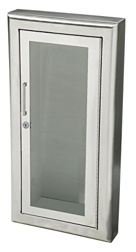 Extinguisher Fire Cabinets Stainless Steel (JL Industries 1033F10 Cosmopolitan Series Surface Mounted Fire Extinguisher Stainless Steel Cabinet)