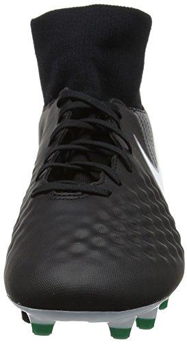 Nike Herren Magista Onda II DF FG Fußballschuhe Schwarz (Black/white-dark Grey-stadium Green)