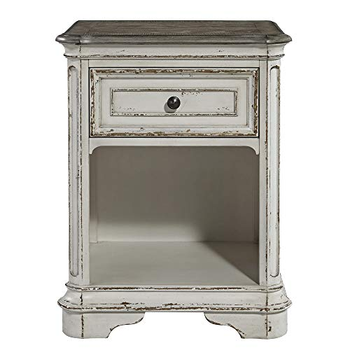 - Liberty Furniture Industries Magnolia Manor 244-BR62 1-Drawer Nightstand, White