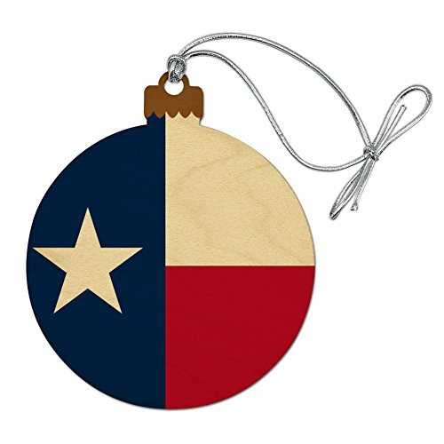 GRAPHICS & MORE Texas State Flag Wood Christmas Tree Holiday Ornament