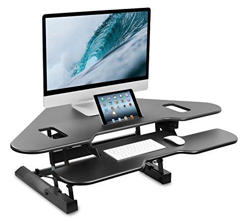 Mount-It! Corner Standing Desk Converter, 48