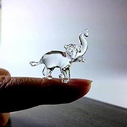 Lucky Elephant Trunk Up Mini Craft Sized Acrylic Mirrors 10Pk