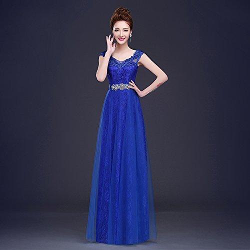 Royal bleu XXXL JKJHAH Robes De Mariée Rouge Robes De Soirée Lace Girls