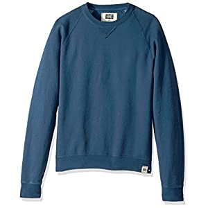 Hanes Men's 1901 V-Notch Raglan Sweatshirt, Indigo Batik Blue, Large
