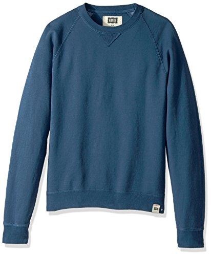 - Hanes Men's 1901 V-Notch Raglan Sweatshirt, Indigo Batik Blue, Large