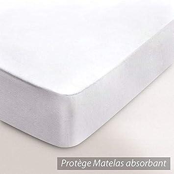 Linnea Protector de colchón Absorbente Antonino - Blanco - 90 x 210: Amazon.es: Hogar