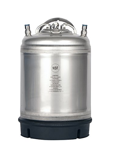 2.5 Gallon Amcyl Keg New Ball Lock Single Handle