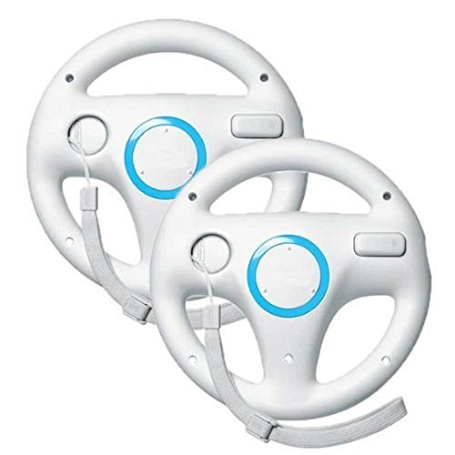 Remote Control,Stoga SVTM01 Generic Wii controller White Steering Mario Kart Racing Wheel game controller for Nintendo Wii Remote Game( 2 PCS ) (Wii U Repair Kit compare prices)