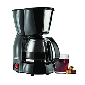 Brentwood TS-213BK Coffee Maker, 4-Cup, Black