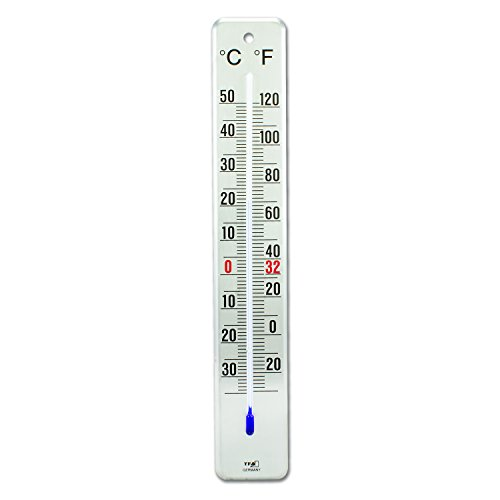 La Crosse Technology 12.2046.61 Brushed Stainless Steel Indoor/Outdoor Thermometer