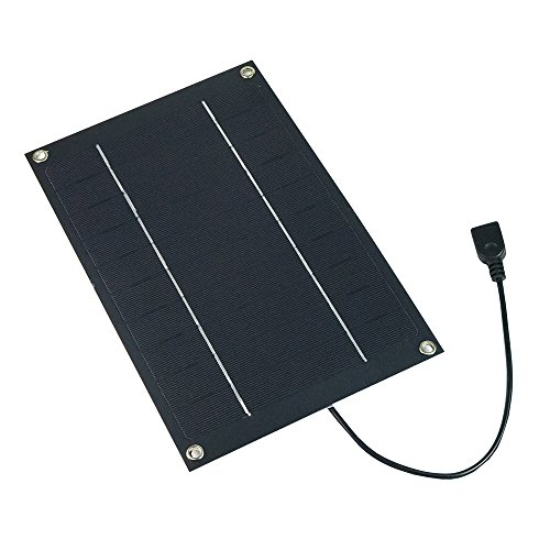 SUNWALK 6W 5V Semi-flexible Solar Panel Portable USB Output Solar Cell DIY Battery Charger Kit with Regulator for Charging and DIY 260x170mm (6W 5V with Regulator)