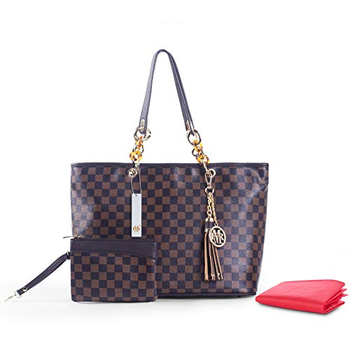 Chain Tote Damier Beige High Brown Mo Handbags Brown amp; Damier Madison Damier Monogram FREE Shopper Rola Purses Handles Quality Bags Matching Shoulder Bags with YwYqpvB