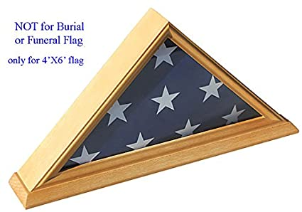 .com: 4' x 6' flag display case shadow box (not for burial ...