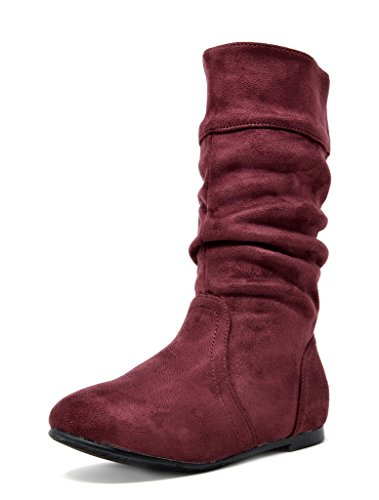 - DREAM PAIRS Toddler BLVD-K Burgundy Girl's Knee High Boots Size 9 M US Toddler