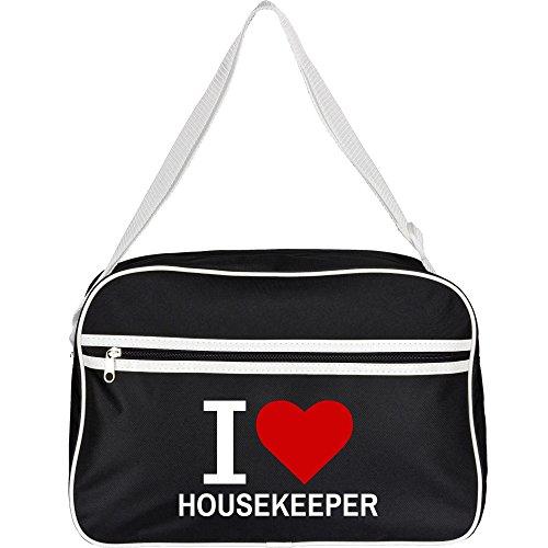 Retrotasche Classic I Love Housekeeper schwarz