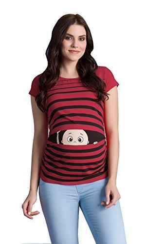 Rosso regaio con Shirt Schwa Divertente T Push Moda Codolo Motivo Manica Corta Dolce Vivo Borraccia nwvqnOZg