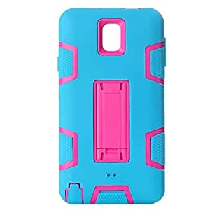 Rotibox Plastic Silicone Armor Rugged Hybrid Shockproof Case for Samsung Galaxy Note 3 III Blue/Pink