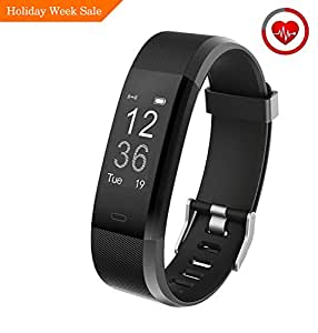 Muzili Fitness Tracker YG3 Plus Activity Tracker with Heart Rate Monitor Calorie Counter Step Counter Sleep Monitor Fitness Watch IP67 Waterproof Smart Wristband for Android and iOS (Black)