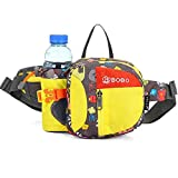 LAIABOR Hiking Waist Pack Bag Waist Bag Running Bag Water Resistant with Bottle Holder for Climbing for Men and Women