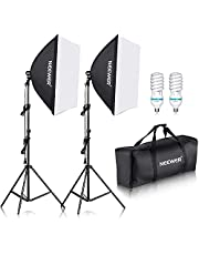 """Neewer® 700W Professional Photography 24""""x24""""/60x60cm Softbox with E27 Socket Light Lighting Kit for Photo Studio Portraits,Product Photography and Video Shooting"""