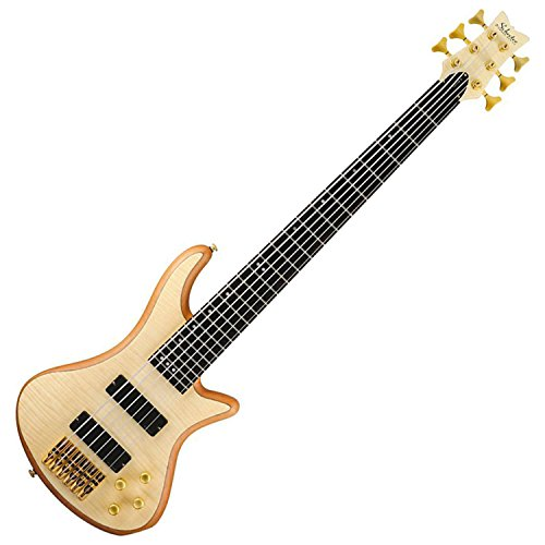 Schecter Guitar Research Stiletto Custom 6 6-String Bass Guitar Satin Natural Stiletto Custom Electric Bass