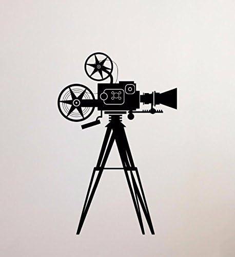 HCCY Proyector de Cine Antiguo Papel de Pared Dormitorio salón ...