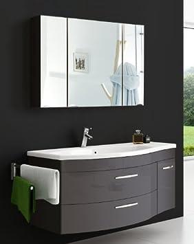 SAM vena 2 pièces ensemble de meubles de salle de bain anthracite ...