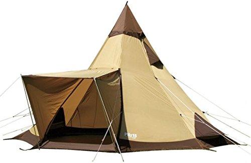 Ogawa Campal Pilz 15-II 8 Tent - 8 Person, 2 Pilz 15-II Brown