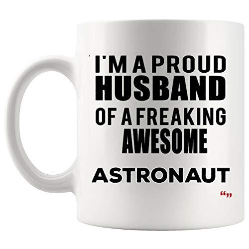 Proud Husband Of Astronaut Mug Coffee Cup | Astronauts Wife Gift | Funny Mugs - Spacewoman Spaceman Universe Men Women Gifts