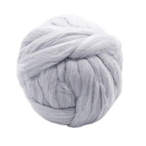 (2.2lbs Chunky Yarn Giant Yarn Super Bulky Yarns 100% Merino Wool Yarn Ball for Arm Knitting DIY Throw Blankets,Scarfs, Cardigans,pet beds etc (Light)